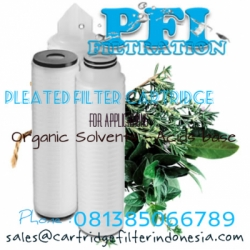Organic Solvent acids base Pleated cartridge filter indonesia  large