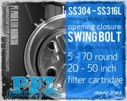 PFI Swing Bolt Housing Cartridge Filter Indonesia  large