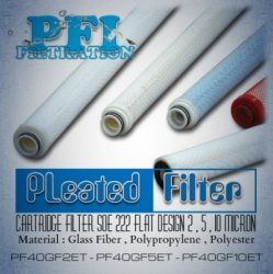 d d PFI PF40GF2ET PF40GF5ET PF40GF10ET Filter Cartridge 222 Flat bag filter indonesia  large